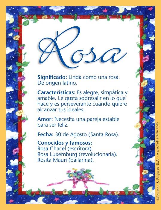 Rosa, imagen de Rosa