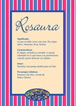 Origen y significado de Rosaura