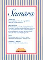 Origen y significado de Samara