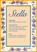 Nombre Stella