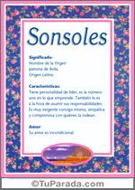 Nombre Sonsoles