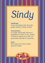 Origen y significado de Sindy