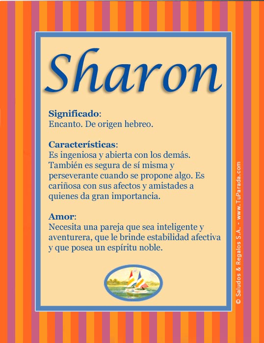 Sharon, imagen de Sharon