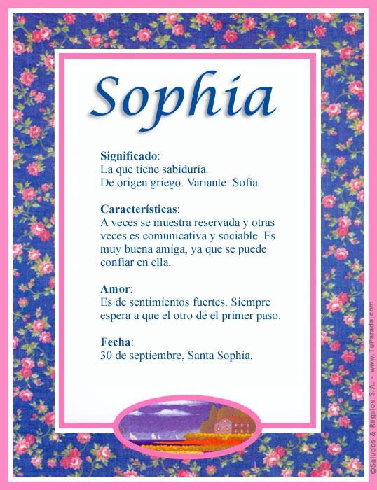 Sophia, imagen de Sophia