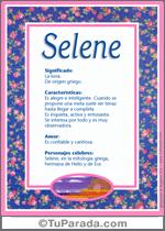 Origen y significado de Selene