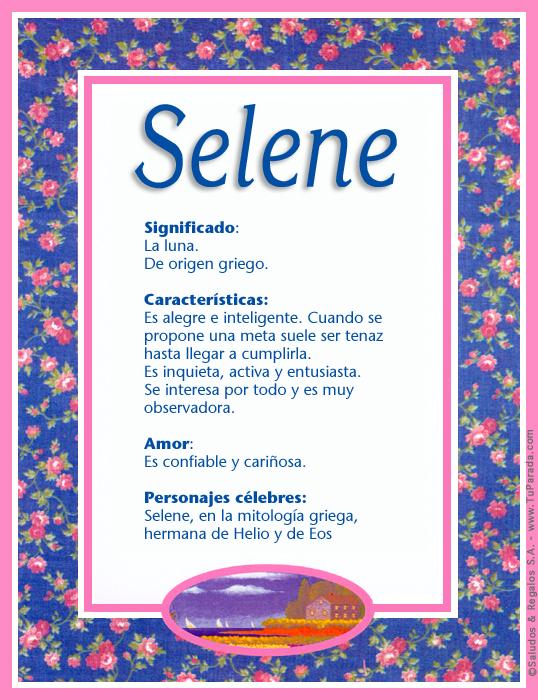 Selene, imagen de Selene