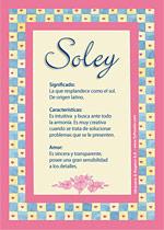 Nombre Soley