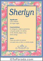 Origen y significado de Sherlyn