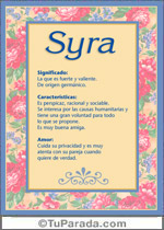 Nombre Syra