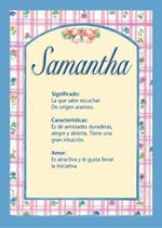 Nombre Samantha