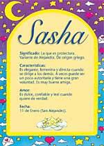 Nombre Sasha