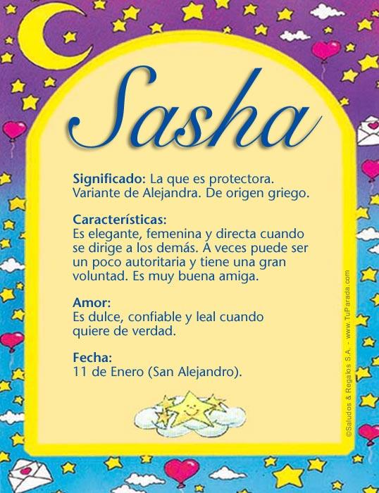 Tarjeta - Sasha