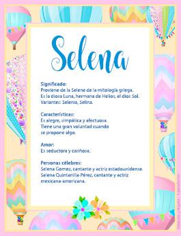 Origen y significado de Selena