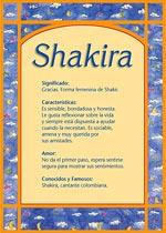 Origen y significado de Shakira
