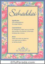 Nombre Sahaddai