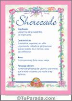 Nombre Sherezade
