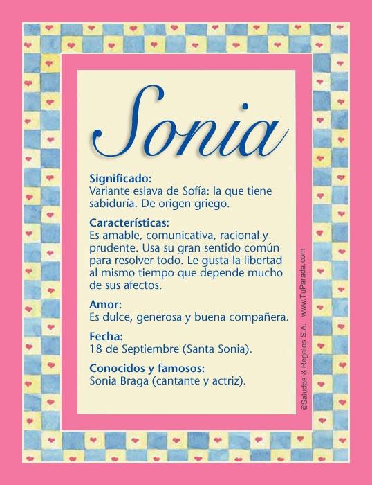 Sonia, imagen de Sonia
