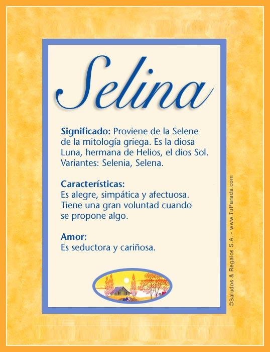 Selina, imagen de Selina