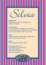 Nombre Silvia