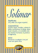 Nombre Solimar