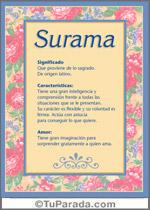 Nombre Surama