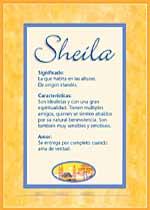 Origen y significado de Sheila