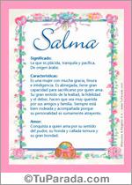 Nombre Salma