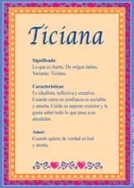 Origen y significado de Ticiana