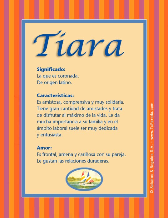 Tiara, imagen de Tiara