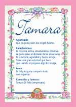 Nombre Tamara