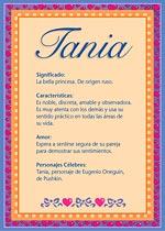 Nombre Tania