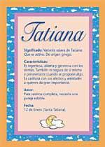 Origen y significado de Tatiana