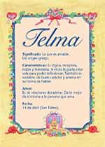 Origen y significado de Telma