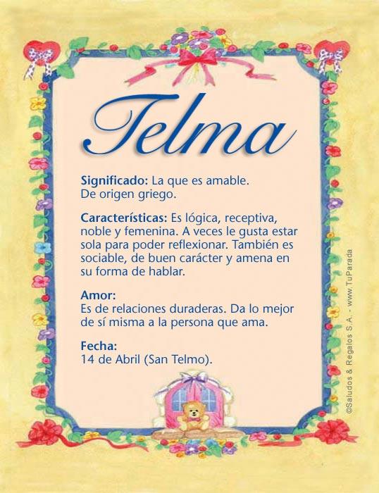 Telma, imagen de Telma