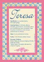 Origen y significado de Teresa