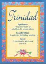 Nombre Trinidad