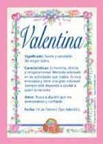 Origen y significado de Valentina