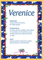 Nombre Verenice