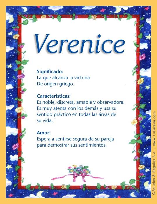 Verenice, imagen de Verenice
