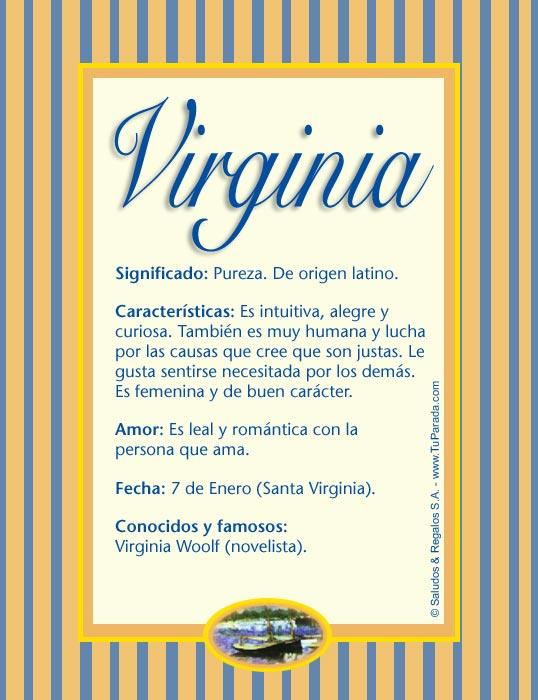 Virginia, imagen de Virginia