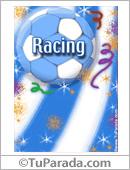 Tarjeta - Para un fanático sin igual de Racing