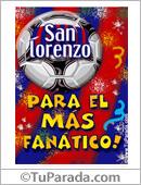 Tarjeta - Para el más fanático de San Lorenzo