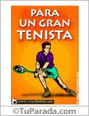 Para un gran tenista.