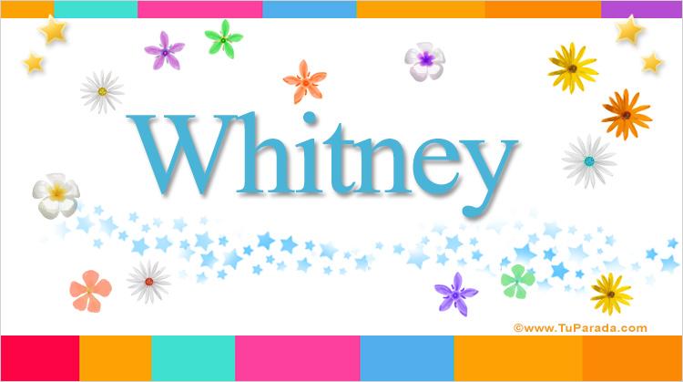 Whitney, imagen de Whitney