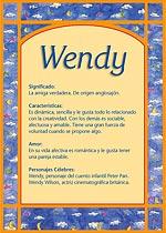 Origen y significado de Wendy