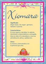 Origen y significado de Xiomara