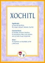 Origen y significado de Xochitl