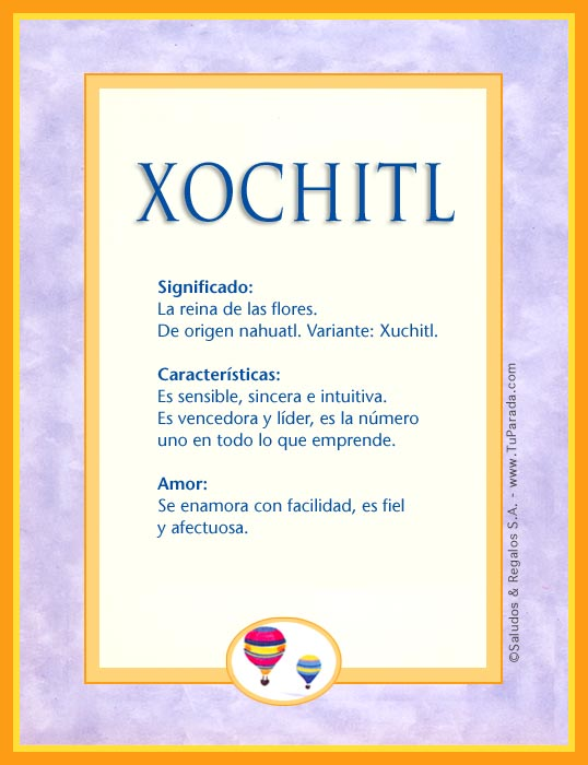 Xochitl, imagen de Xochitl