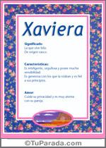 Nombre Xaviera