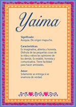 Nombre Yaima